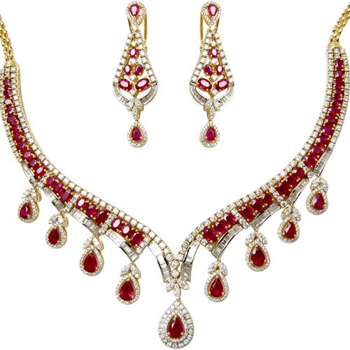 Ruby Stone Necklace Designs