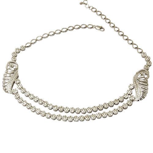 Diamond Brooch Necklace