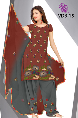 Heavy Suits with work Salwar & Dupatta