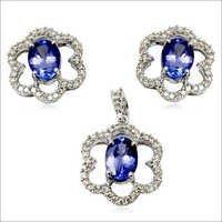 tanzanite earring and pendant jewellery tanzanite diamond jewellery