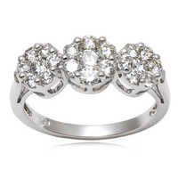 White Diamond Ring Pressure set Diamond Rings Diam