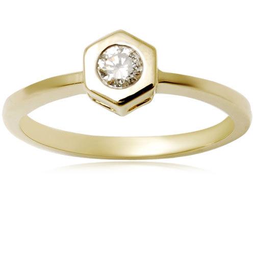 Bezel set women's ring
