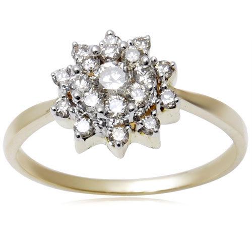 Flower Design Diamond Ring
