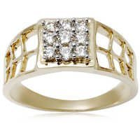 Men's Diamond Gold Ring