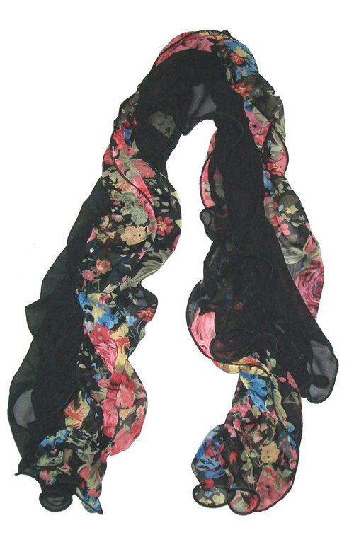 Ruffle Printed Stoles