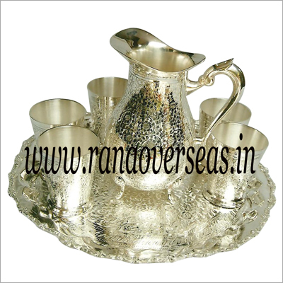 Silver Plated Jugs With Glasses
