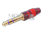 TRS P-38 Stereo Connector Full Metal (Gold Plated)