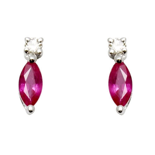 Pink Ruby jewellery, fine jewellery, simple gold jewellery