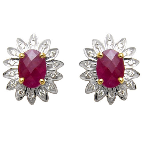 gemstone jewellery, ruby earring jewellery, color stone jewelry