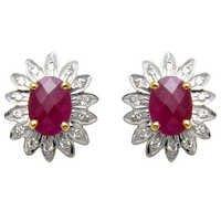 gemstone jewellery, ruby earring jewellery, color stone jewelry