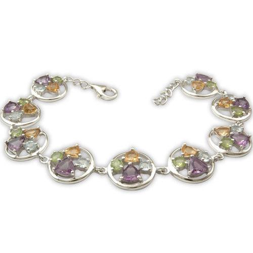 Semi Precious Stone Silver Jewelry