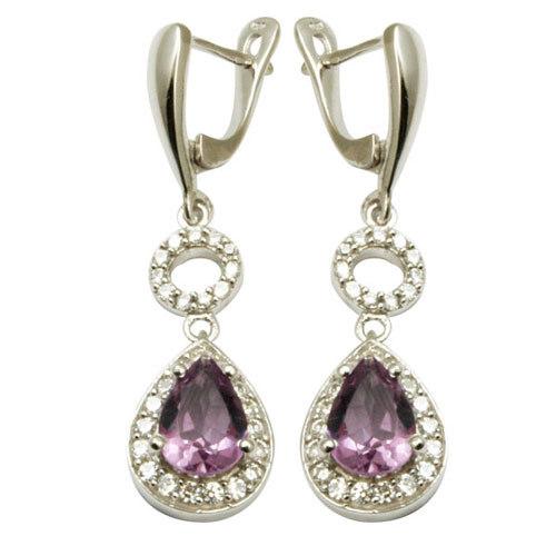 Silver sterling jewelry cz jewelry amethyst jewelr