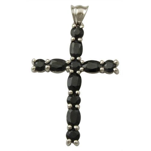 cross pendant black onyx jewelry 925 silver jewelry
