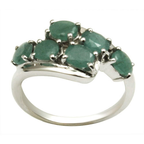 emerald silver jewelry oval emerald ring cheap silver jewelry