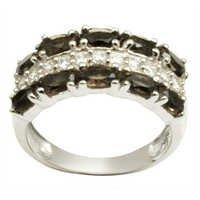 smoky zircon jewelry silver jewellery ring designer silver jewellery