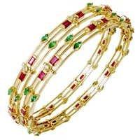 Emerald Designer Bangles