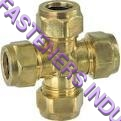 Brass Compression Union Cross