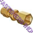 brass compression female bulk head union