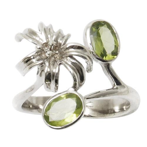 trendy silver jewelry funky 2012 fashion jewelry ring peridot jewelry