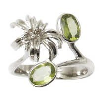 trendy silver jewelry funky 2012 fashion jewelry ring peridot jewelry