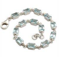 blue topaz jewellery octagon stone BT bracelet blu