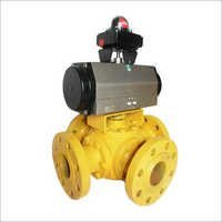 4 Way Pneumatic Ball Valve