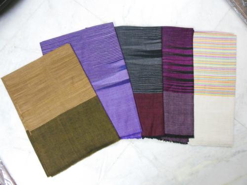 Pashmina With Designed Check Shawls