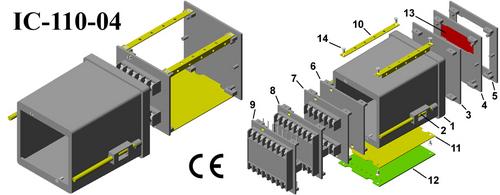 Plastic panel enclosure DIN 96*96*110