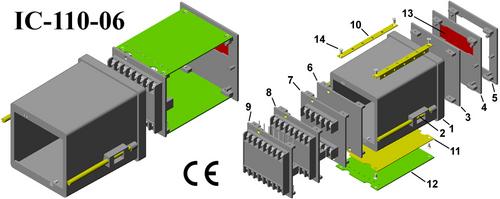 Digital panel meter cabinet DIN 96*96*110