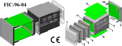 Plastic electrical enclosure FUTURA DIN 96*96*110