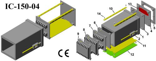 Plastic electrical enclosure DIN 96*96*150