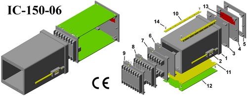 Digital panel meter enclosure DIN 96*96*150