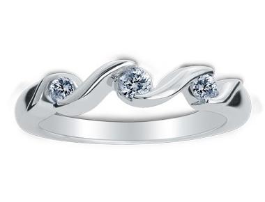 Diamond Ring 18K White Gold 0.49 ct total diamond weight