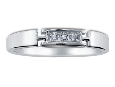Hamesha Diamond Band 18K White Gold 0.07 ct total diamond weight