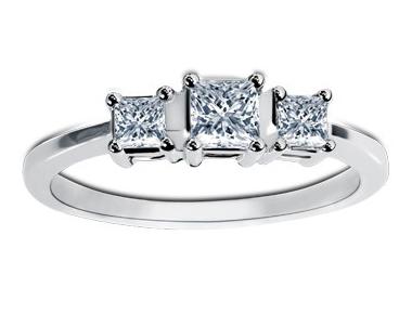 Hamesha Princess Diamond Ring 18K White Gold 0.47 ct total diamond weight