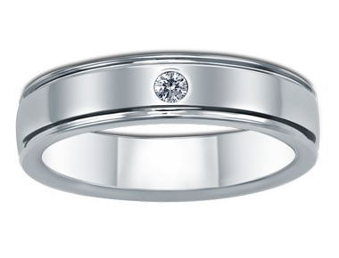 Forever Flush-Set Diamond Ring 18K White Gold 0.04 ct total diamond weight