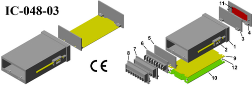 Plastic panel enclosure DIN 96*48*150