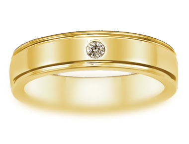Forever Fine Men's Solitaire Band