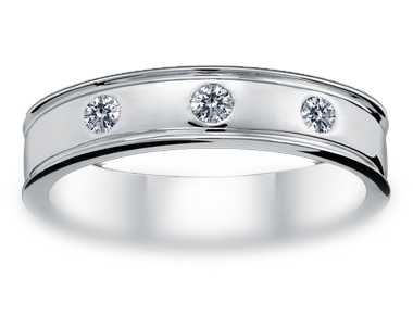 Hamesha Diamond Ring 18K White Gold 0.17 ct total diamond weight