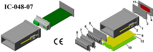 Digital panel meter enclosure DIN 96*48*150