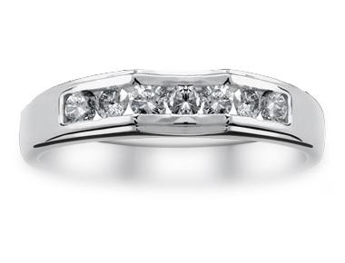 Metro Channel-Set Diamond Ring 18K White Gold 0.28 ct total diamond weight