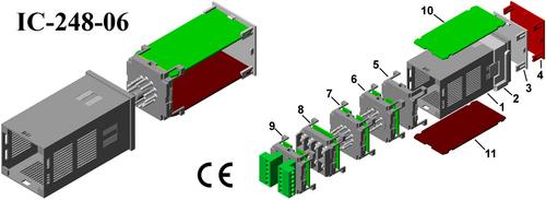 Plastic Plug-in Housings IC-248-06 DIN 48*48*90