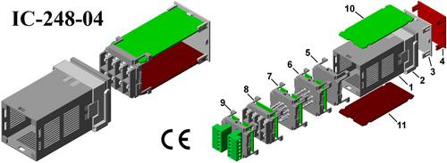 Digital panel meter enclosure IC-248-04 DIN 48*48*90