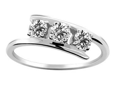 18K White Gold 0.16 ct total diamond weight Hamesh