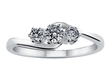 Hamesha Diamond Ring 18K White Gold 0.46 ct total diamond weight