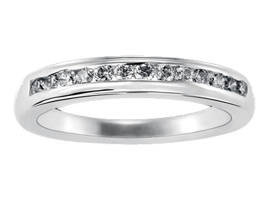 Metro Channel-Set Diamond Ring 18K White Gold 0.24 ct total diamond weight