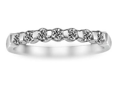 Metro Bar-Set Diamond Ring 18K White Gold 0.24 ct total diamond weight