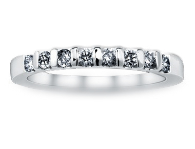 Metro Bar-Set Diamond Ring 18K White Gold 0.27 ct total diamond weight
