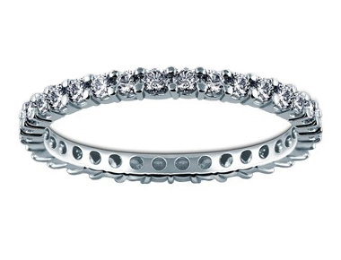 Eternity Diamond Band 18K White Gold 0.99 ct total diamond weight