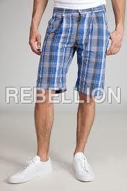 Check Printed Shorts